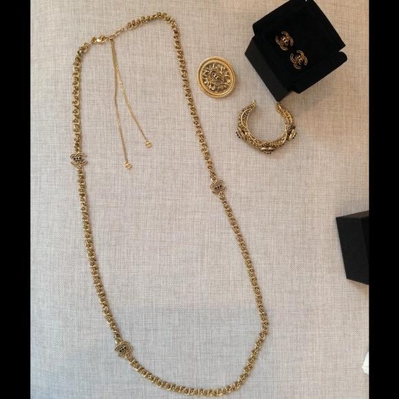 CHANEL Byzantine gold-tone set